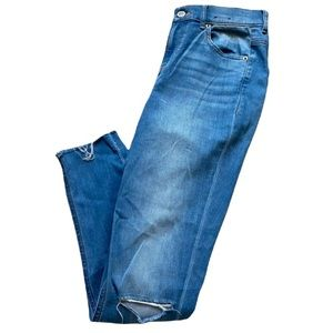 Express Distressed Ankle Legging High Rise Jeans Women's
